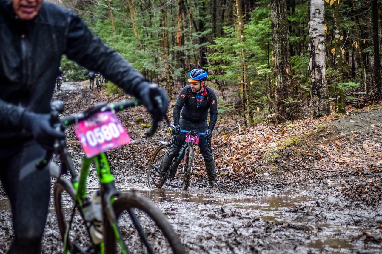 Cyberia was again unrideable in spots this year. 2019 Rasputitsa Gravel Race, Vermont. © Nolan Myers