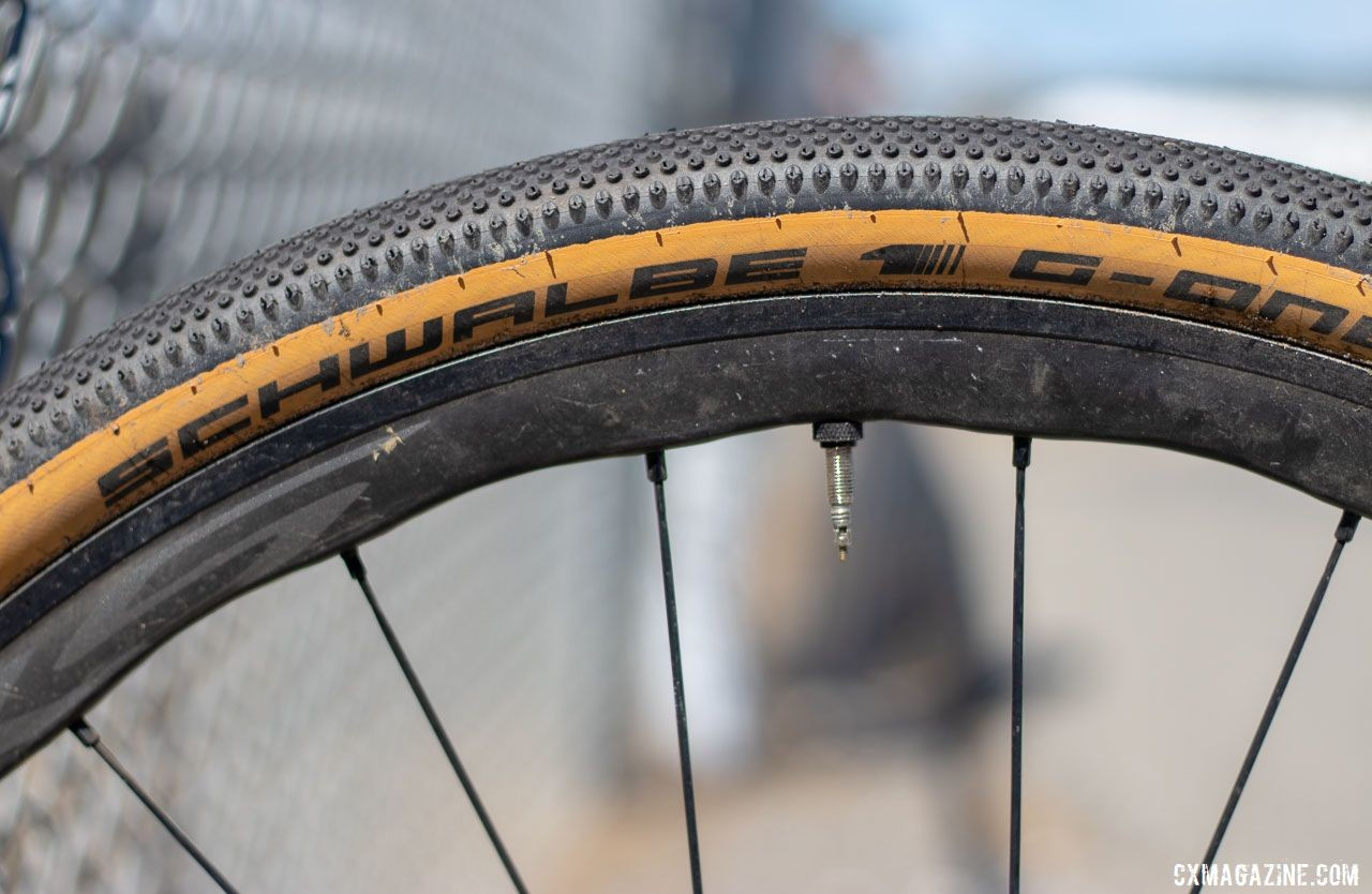 The RS770 wheelset uses a hybrid carbon-alloy construction. Aaron Bradford's Rock Lobster team cyclocross bike. 2019 Sea Otter Classic. © A. Yee / Cyclocross Magazine