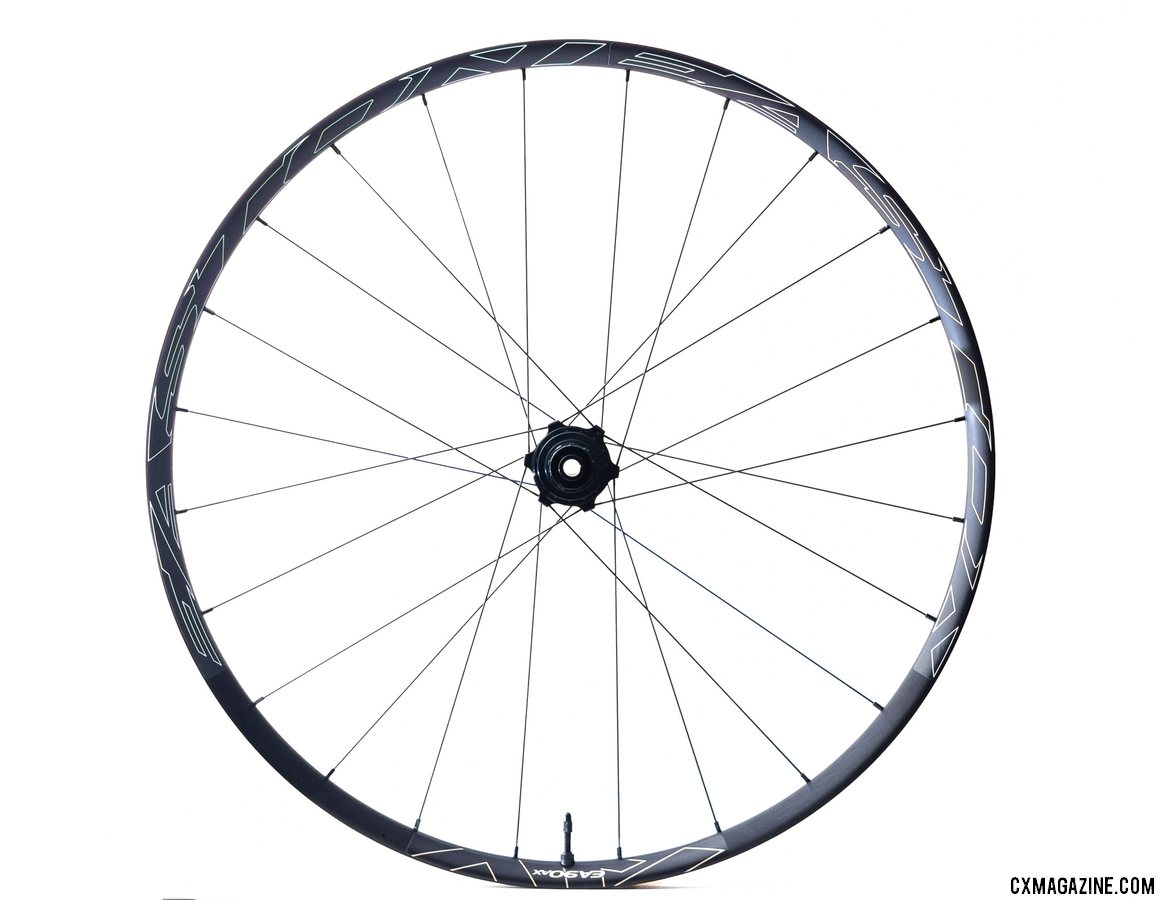 Easton's new EA90AX tubeless disc brake wheelset weigh 1630g with tape and valves and retails for $799. © Cyclocross Magazine