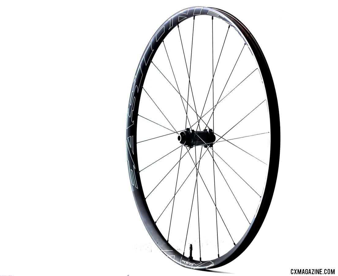 Easton's new EA90AX tubeless disc brake wheels feature Sapim straight-pull spokes, alloy nipples, and a 25mm wide rim. © Cyclocross Magazine