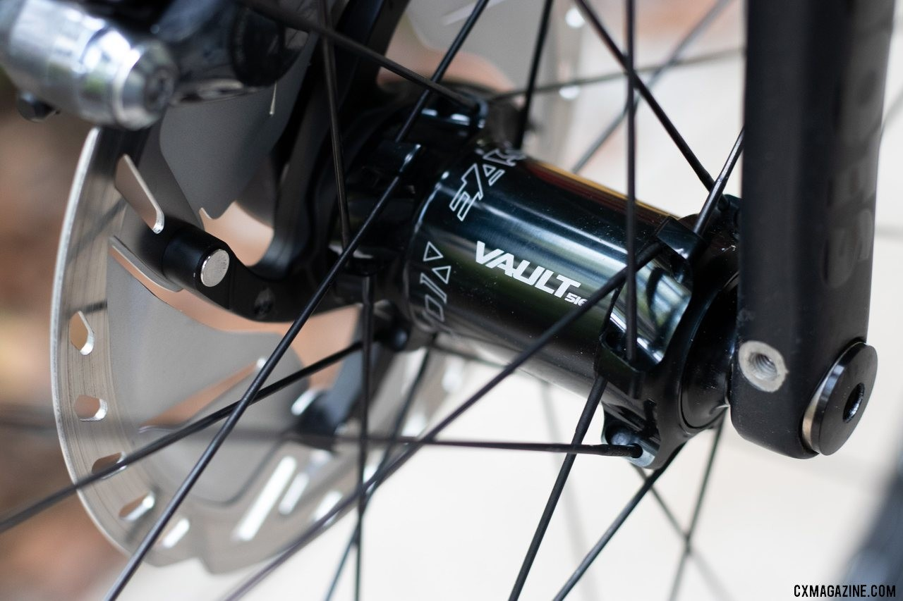 The Vault hubset features tool-free end cap swaps and a CenterLock rotor mount. Easton's new EA90AX tubeless disc brake wheels. © Cyclocross Magazine