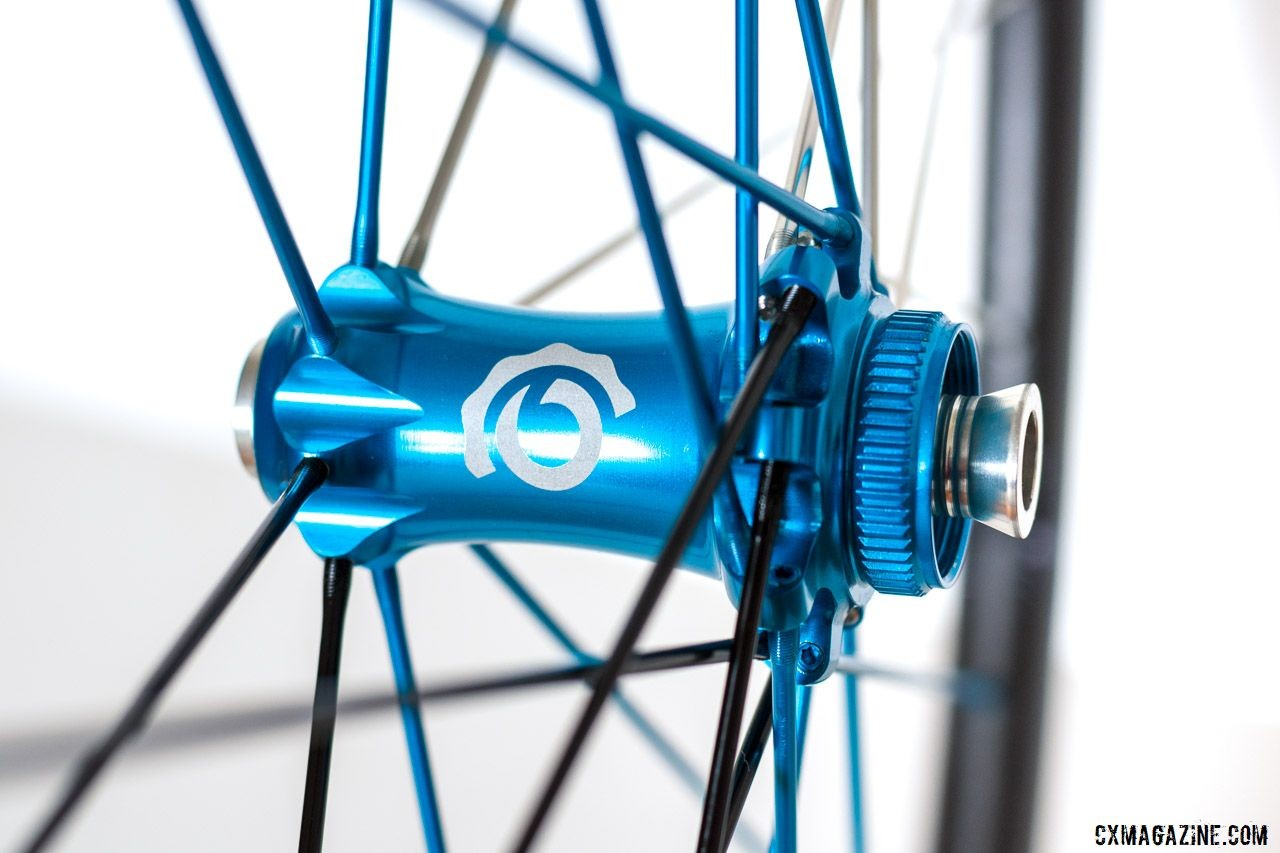 Industry Nine's Torch Road Alloy hubs are Centerlock disc. Industry Nine Ultralite 240 TRA Carbon Tubeless Clincher Wheelset. © C. Lee / Cyclocross Magazine