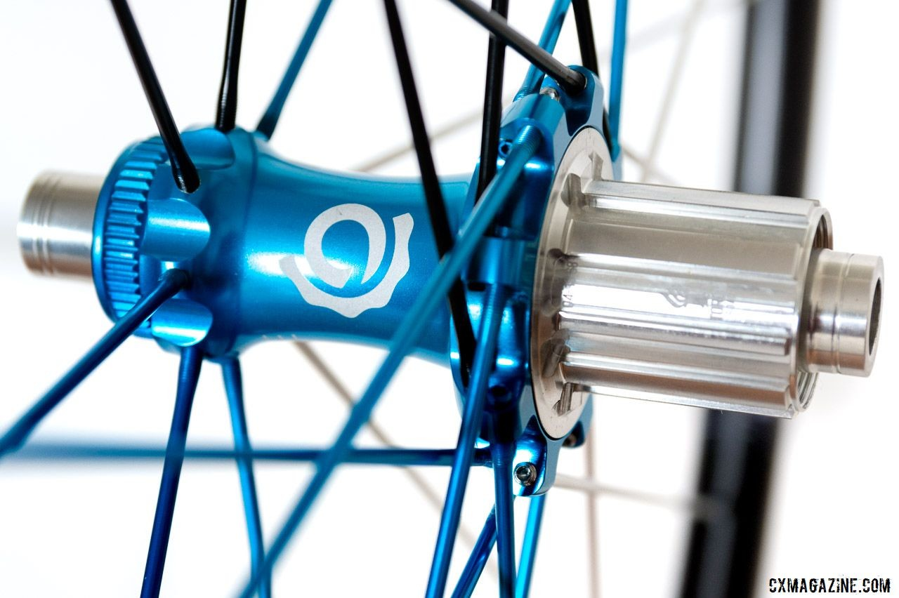 TRA hubs on the Industry Nine Ultralite 240 TRA Carbon Tubeless Clincher Wheelset. © C. Lee / Cyclocross Magazine