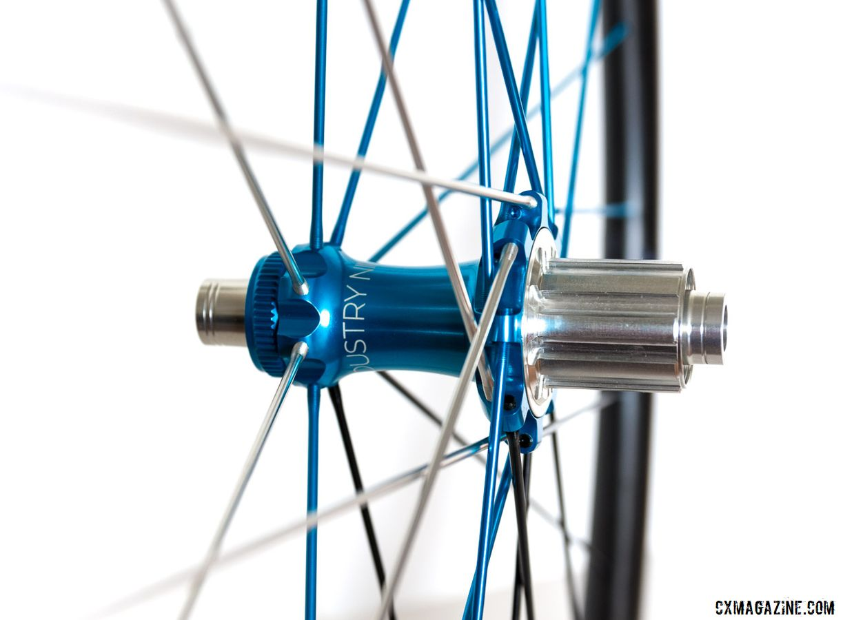 The wheels come with i9's new Torch Road Alloy hubset. Industry Nine Ultralite 240 TRA Carbon Tubeless Clincher Wheelset. © C. Lee / Cyclocross Magazine