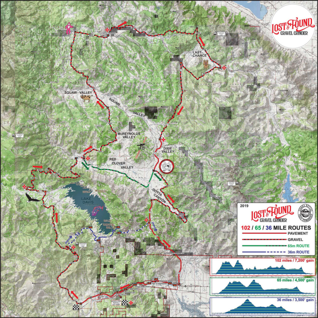 2019 Lost and Found Course Map