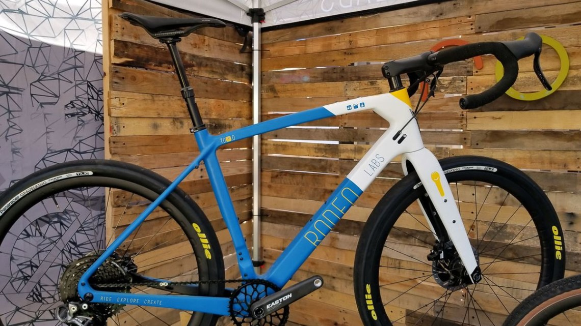 Rodeo Labs Trail Donkey 3.0 with dropper post and TRP Hylex / Shimano Di2. 2019 Sea Otter Classic. © Cyclocross Magazine