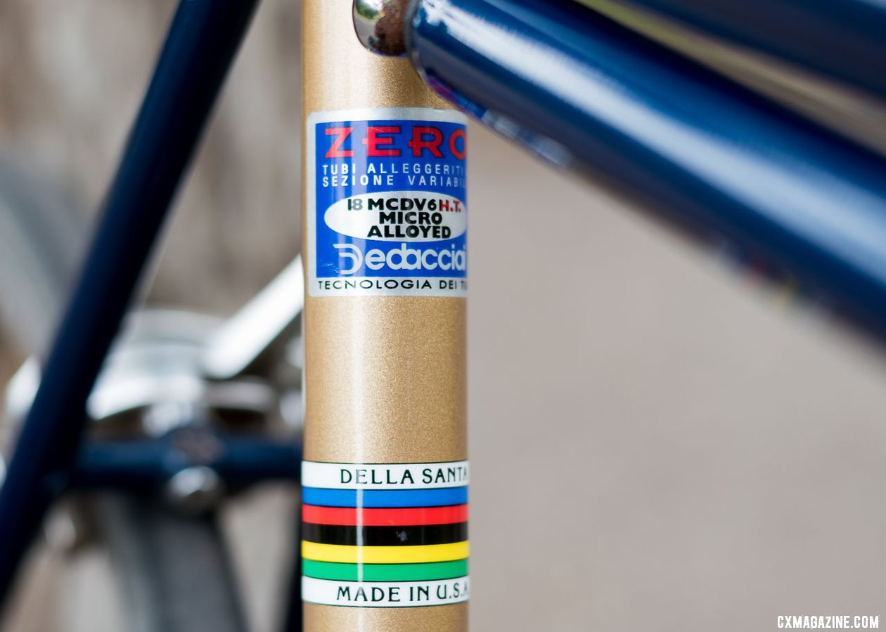 Clifford Lee's Roland Della Santa Road bike, built from Dedacciai Zero tubing. © C. Lee / Cyclocross Magazine