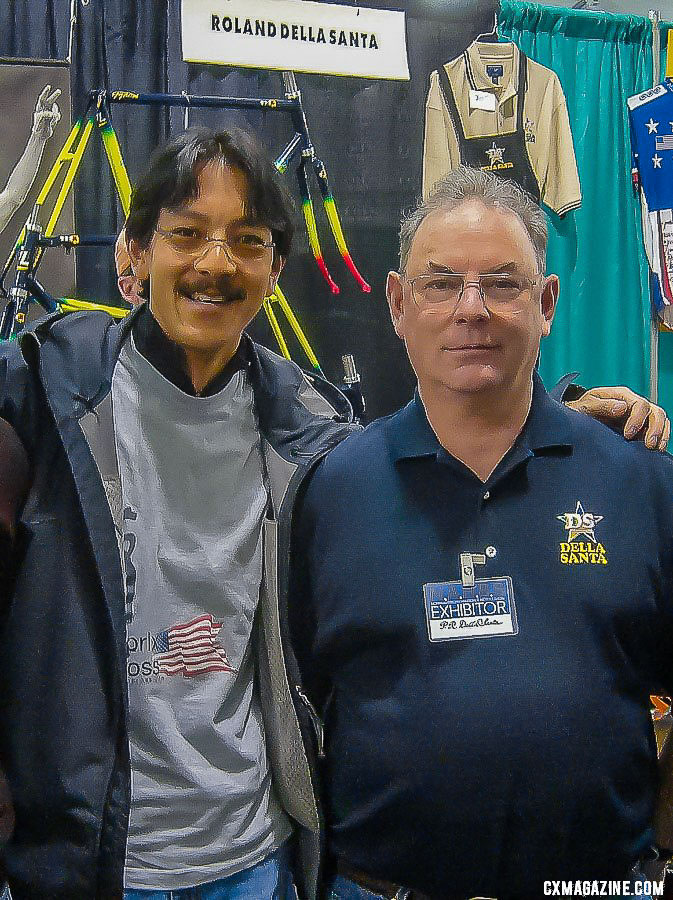 Clifford Lee with Roland Della at one of his NAHBS appearances.
