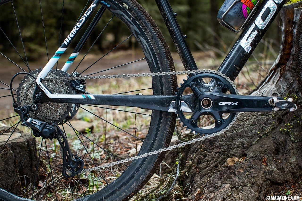 Shimano GRX components feature 1x, 2x, Di2 and mechanical options. photo: Serling Lorence