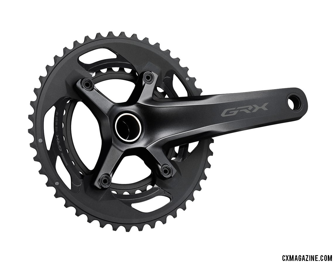 Shimano's new GRX gravel / cyclocross crankset in 46/30 2x 10-speed option.
