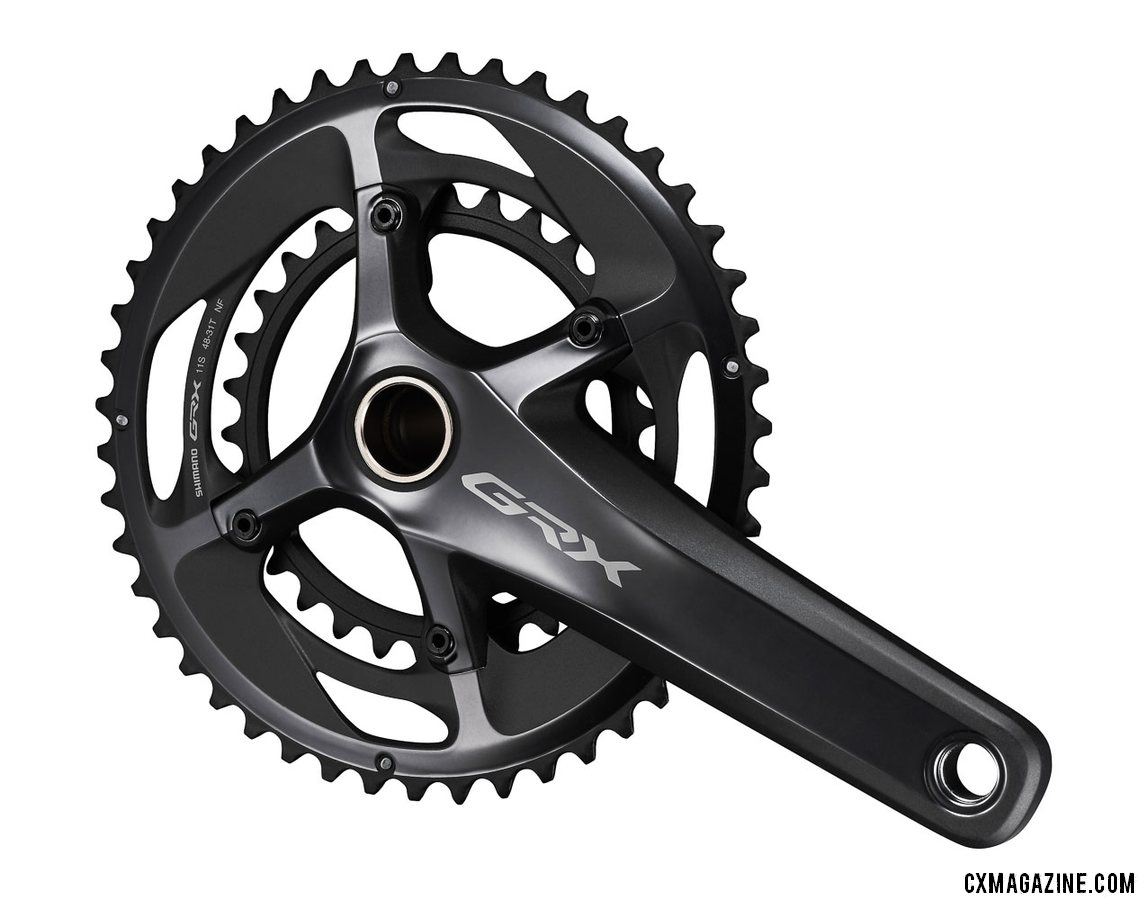 Shimano's new GRX gravel / cyclocross crankset in a 46/31 2x RX810 option.