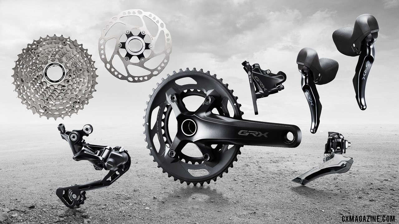 Shimano's new GRX 10-speed RX600 / RX400 gravel / cyclocross components.