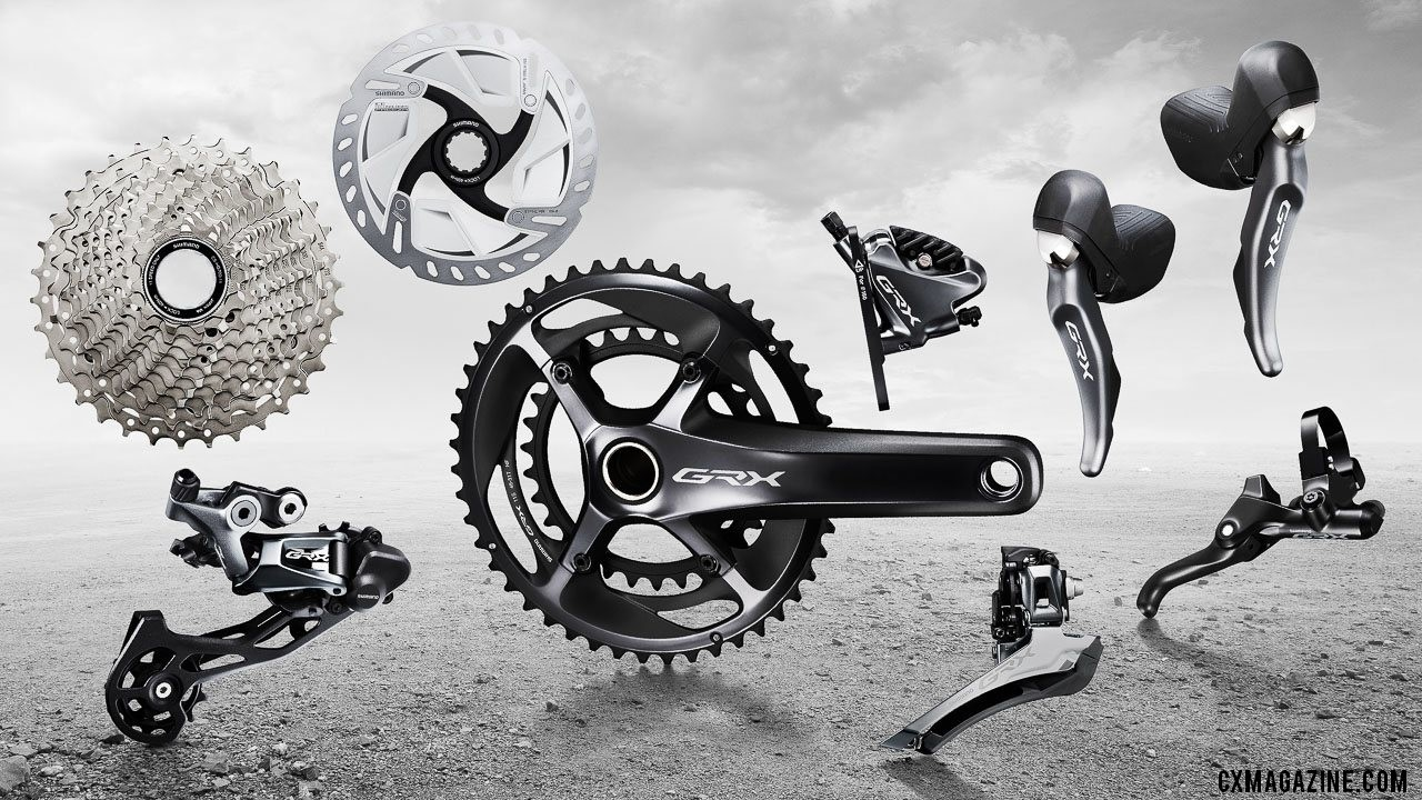 Shimano's new GRX mechanical 11-speed RX810 gravel / cyclocross components.