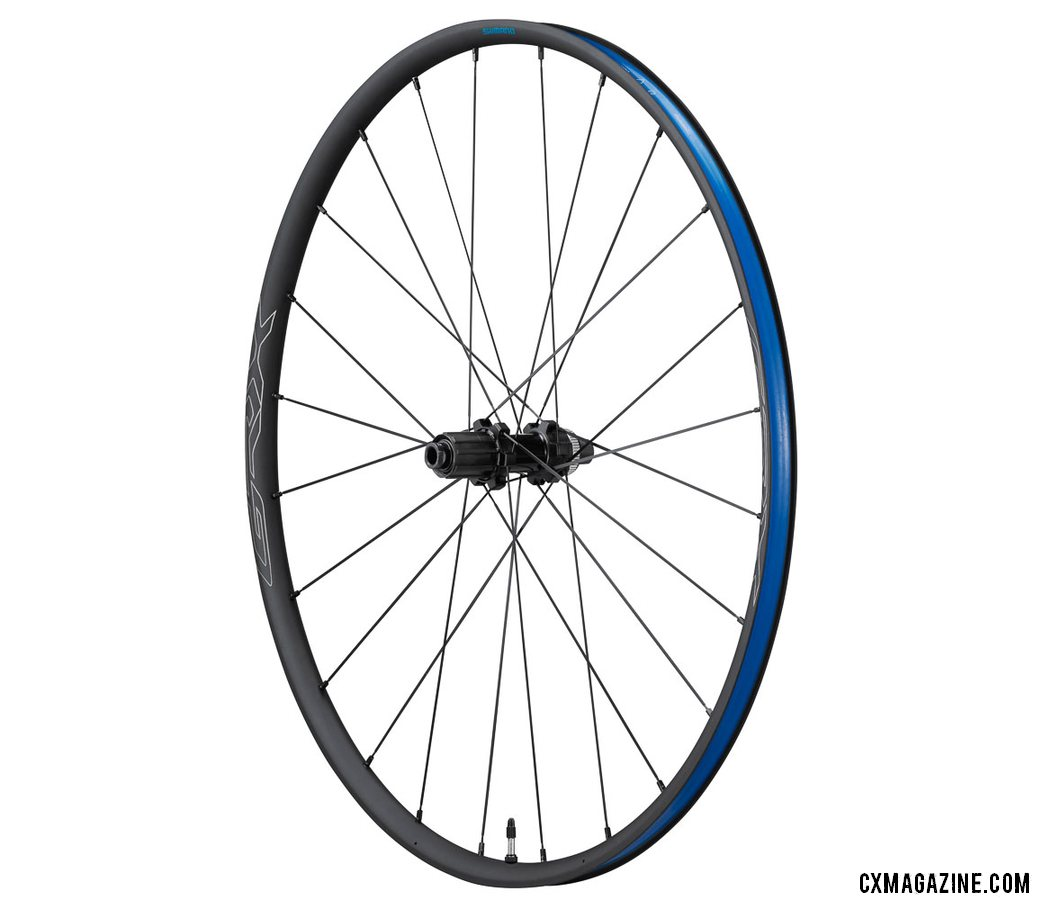Shimano's new GRX gravel / cyclocross family of components has one wheelset, the 21.6mm wide RX570 wheelset. It comes in both 700c and 650b diameters.