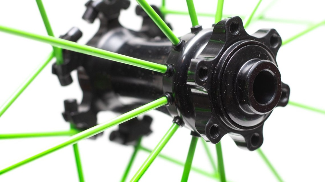 Spinergy's PBO spoke Z-Lite Disc wheelset and GX wheelset are 6-bolt only. © Cyclocross Magazine