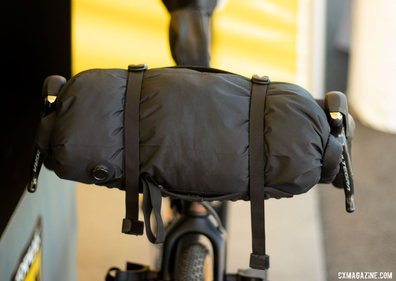 Topeak's FrontLoader holds 8 liters and is perfect for bulky items like sleeping bags. $84.95 MSRP. © A. Yee / Cyclocross Magazine