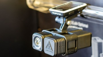 Topeak's CubiCubi series helps you mount a Topeak light (up to 1200 lumens), a spare battery, a GoPro, and your head unit in a tidy package. Lights start at $99, while a 6000 mAh battery pack retails for $49.95. © A. Yee / Cyclocross Magazine
