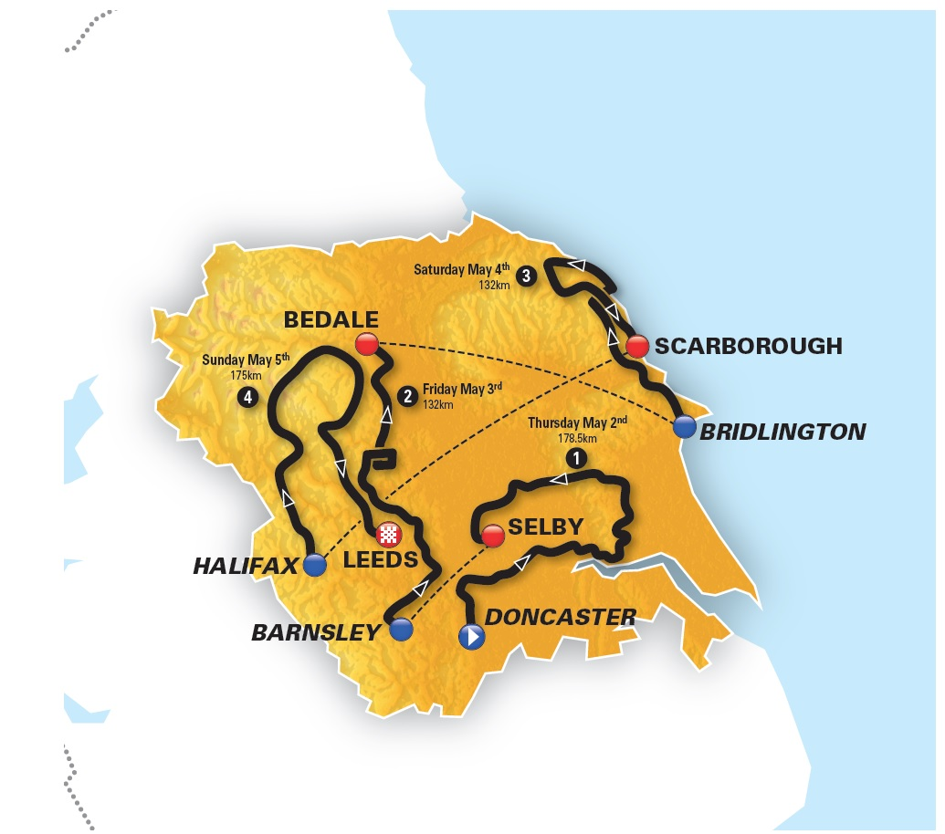 2019 Tour of Yorkshire Men's routes