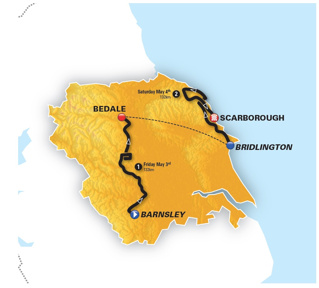2019 Tour of Yorkshire Women's routes