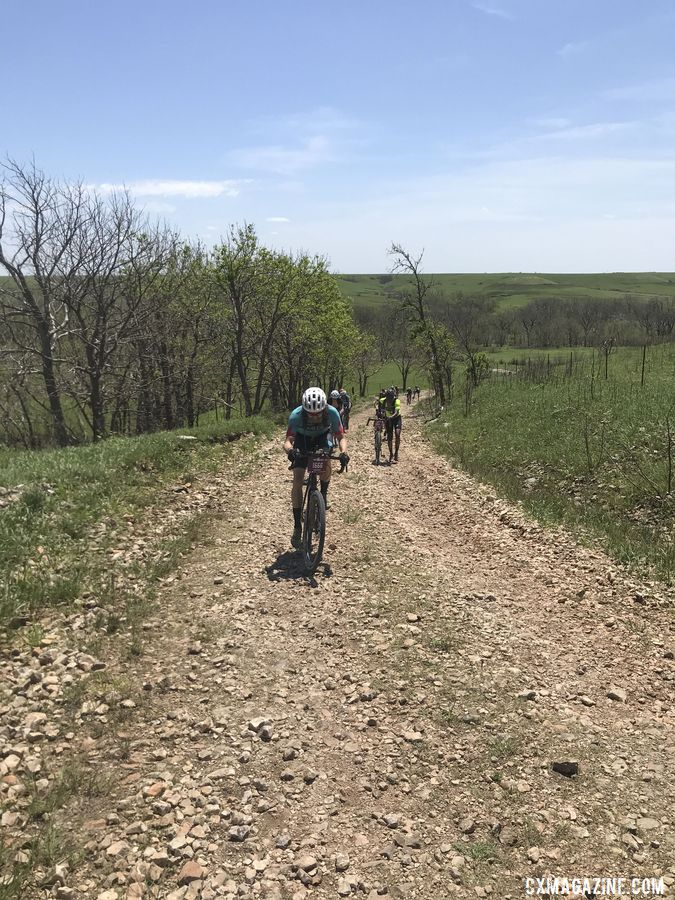 Mark Symns Rider Diary, 2019TThere were some gnarly climbs on this year's course. Dirty Kanza 200. © M. Symns / Cyclocross Magazine