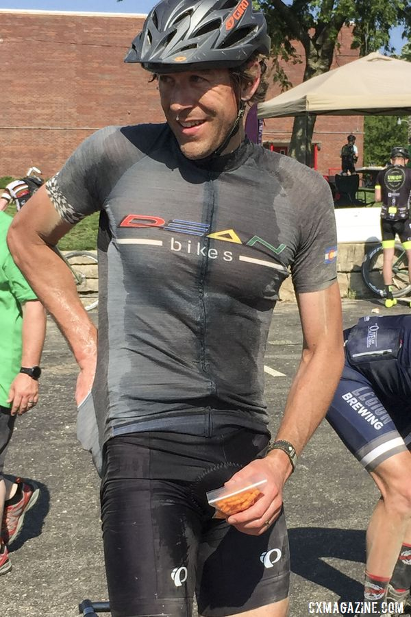 Mark Symns, partway through the DK200. Mark Symns Rider Diary, 2019 Dirty Kanza 200. © M. Symns / Cyclocross Magazine