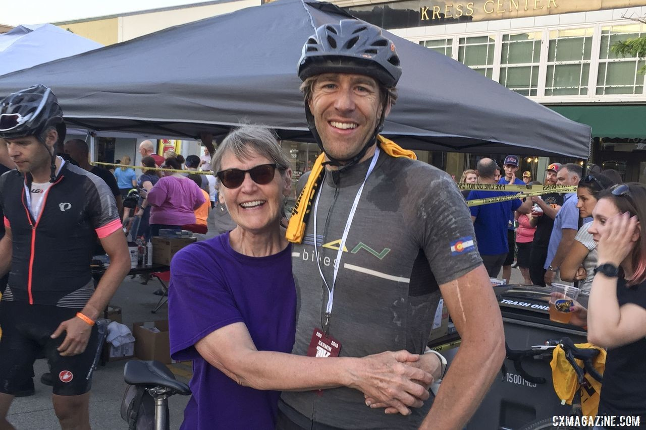 Symns' mother-in-law came to Kansas to help him out. Mark Symns Rider Diary, 2019 Dirty Kanza 200. © M. Symns / Cyclocross Magazine