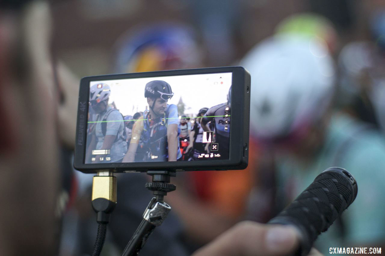 Ted King gets some start line camera time. 2019 Dirty Kanza 200 Gravel Race. © Z. Schuster / Cyclocross Magazine