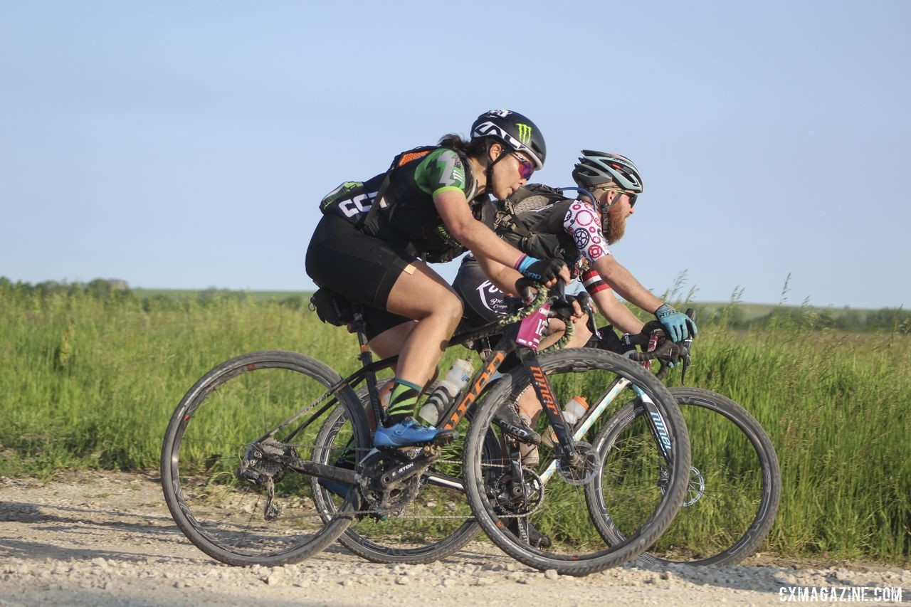 Nauman carried her gear using a saddle bag on race day. 2019 Dirty Kanza 200 Gravel Race. © Z. Schuster / Cyclocross Magazine
