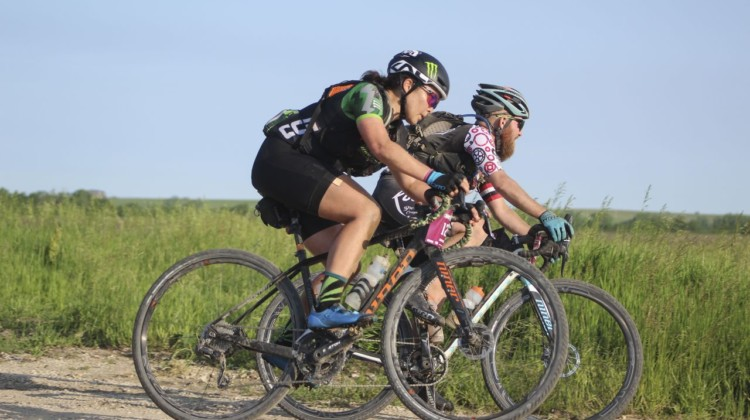 Amanda Nauman takes a corner. 2019 Dirty Kanza 200 Gravel Race. © Z. Schuster / Cyclocross Magazine