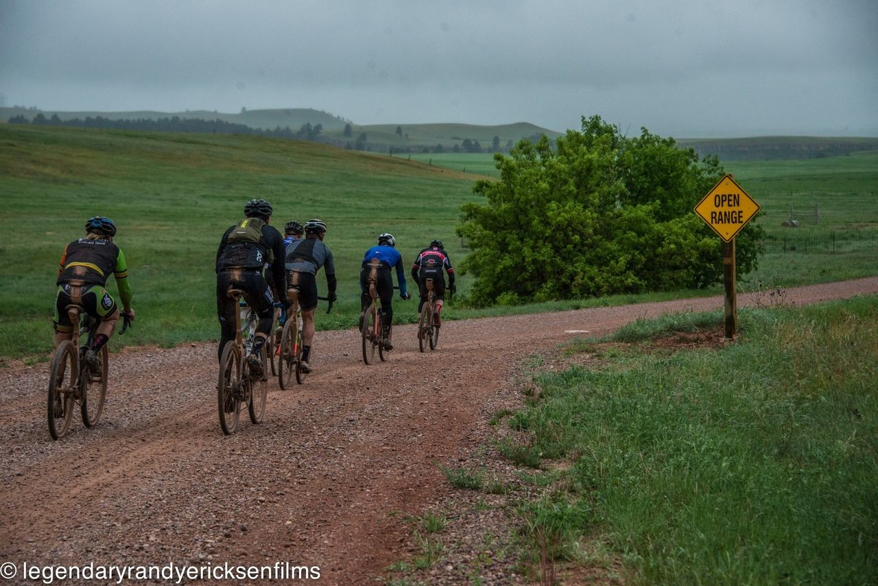 Weather conditions made this year's race a tougher challenge. 2019 Gold Rush Gravel Grinder, South Dakota. © Randy Ericksen