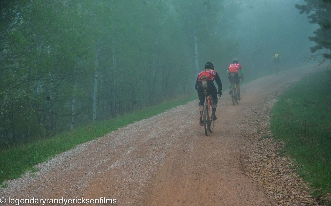 The climbing took on a mist-terious vibe this year. 2019 Gold Rush Gravel Grinder, South Dakota. © Randy Ericksen