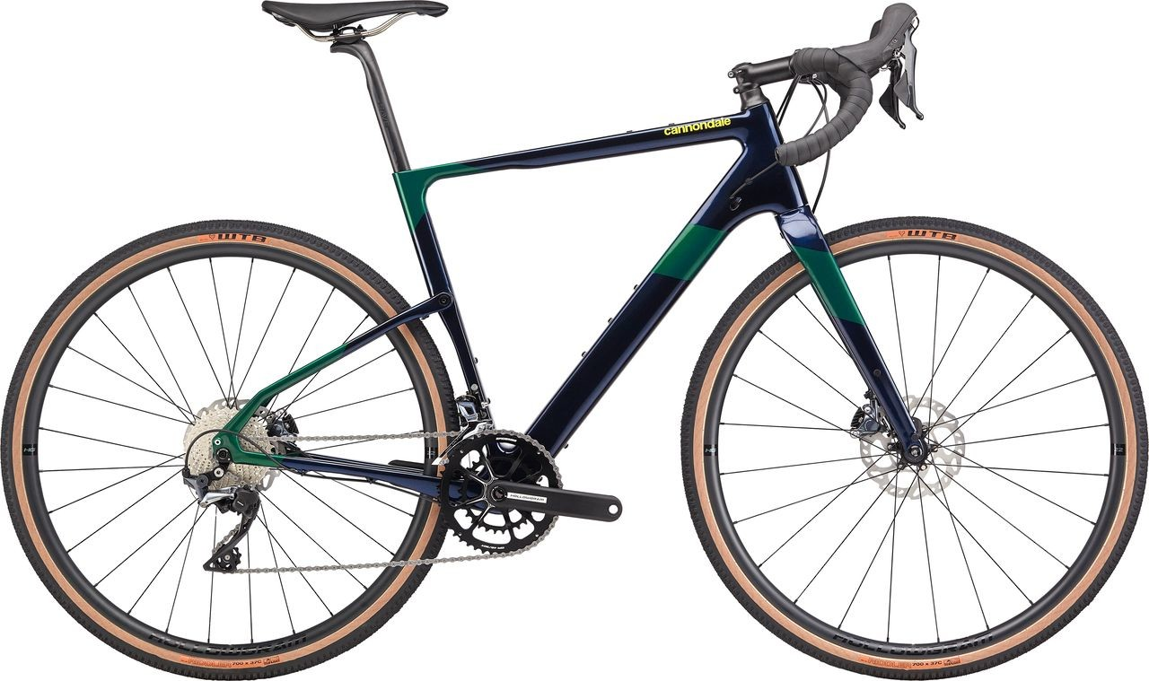 The Ultegra RX model has an RX800 rear derailleur and carbon rims. Cannondale Topstone Crb Gravel Bike Release. © Cannondale