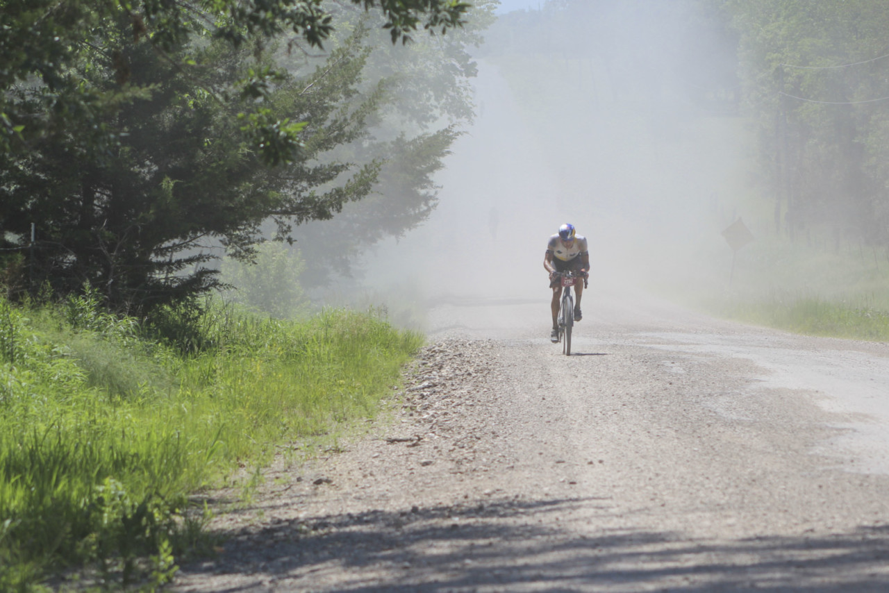 Strickland attacked with purpose. 2019 Men's Dirty Kanza 200 Gravel Race. © Z. Schuster / Cyclocross Magazine