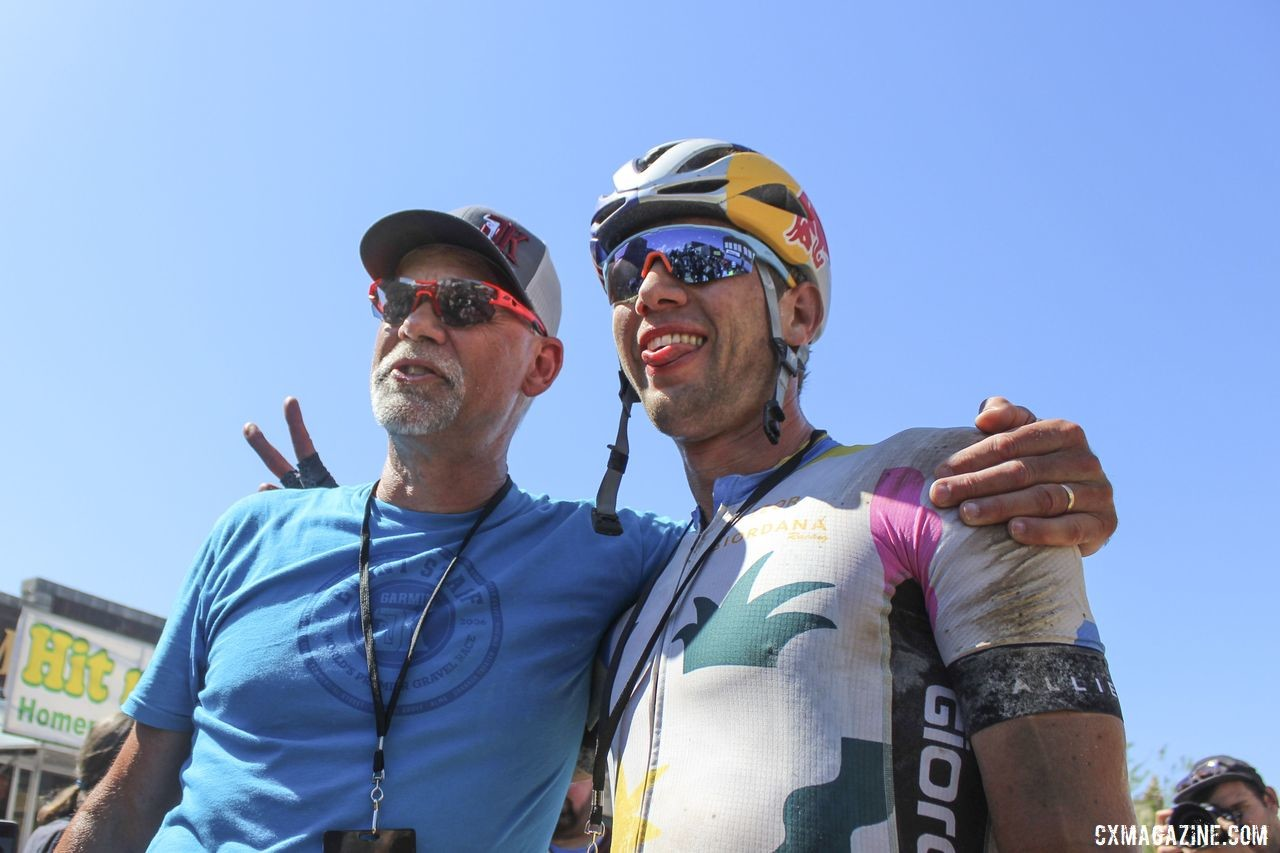 Colin Strickland poses with Jim Cummins after his win. © Z. Schuster / Cyclocross Magazine