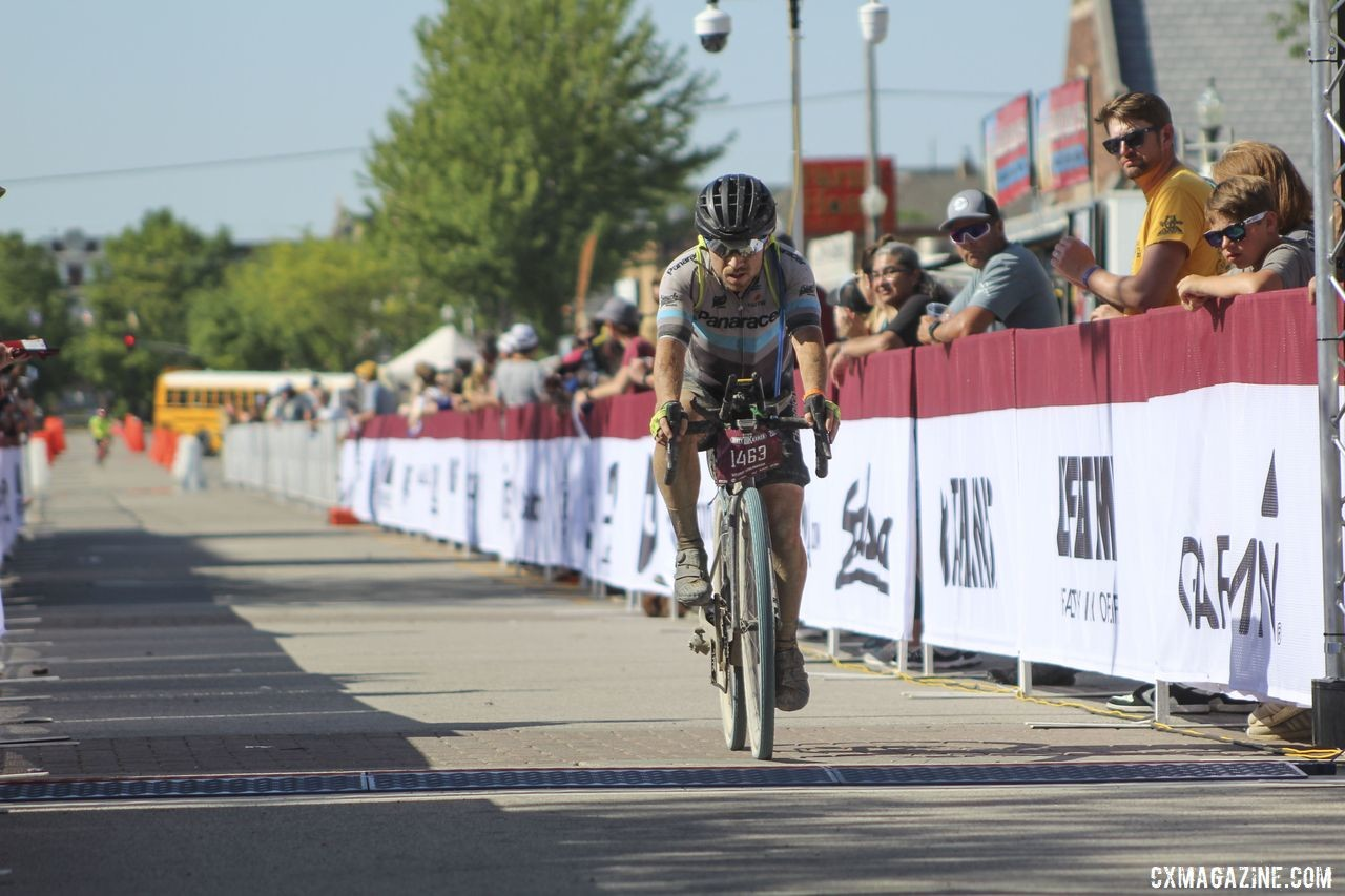 Sencenbaugh finished with a solid 12th-place result. 2019 Dirty Kanza 200, Panaracer / Factor p/b Bicycle X-Change Checkpoint 1. © Z. Schuster / Cyclocross Magazine