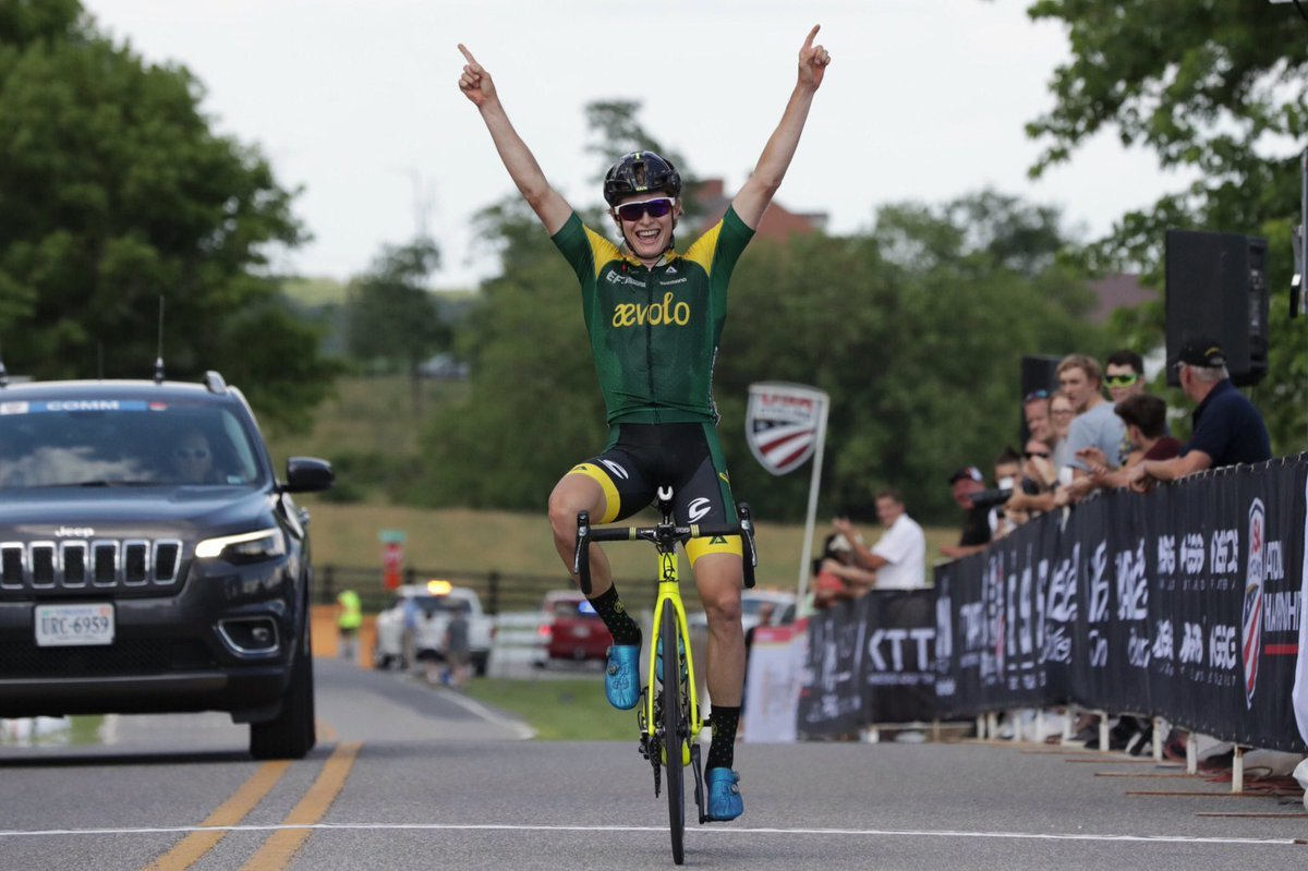 Lance Haidet is the U23 Men's Road National Champion. © Bruce Buckley / USA Cycling