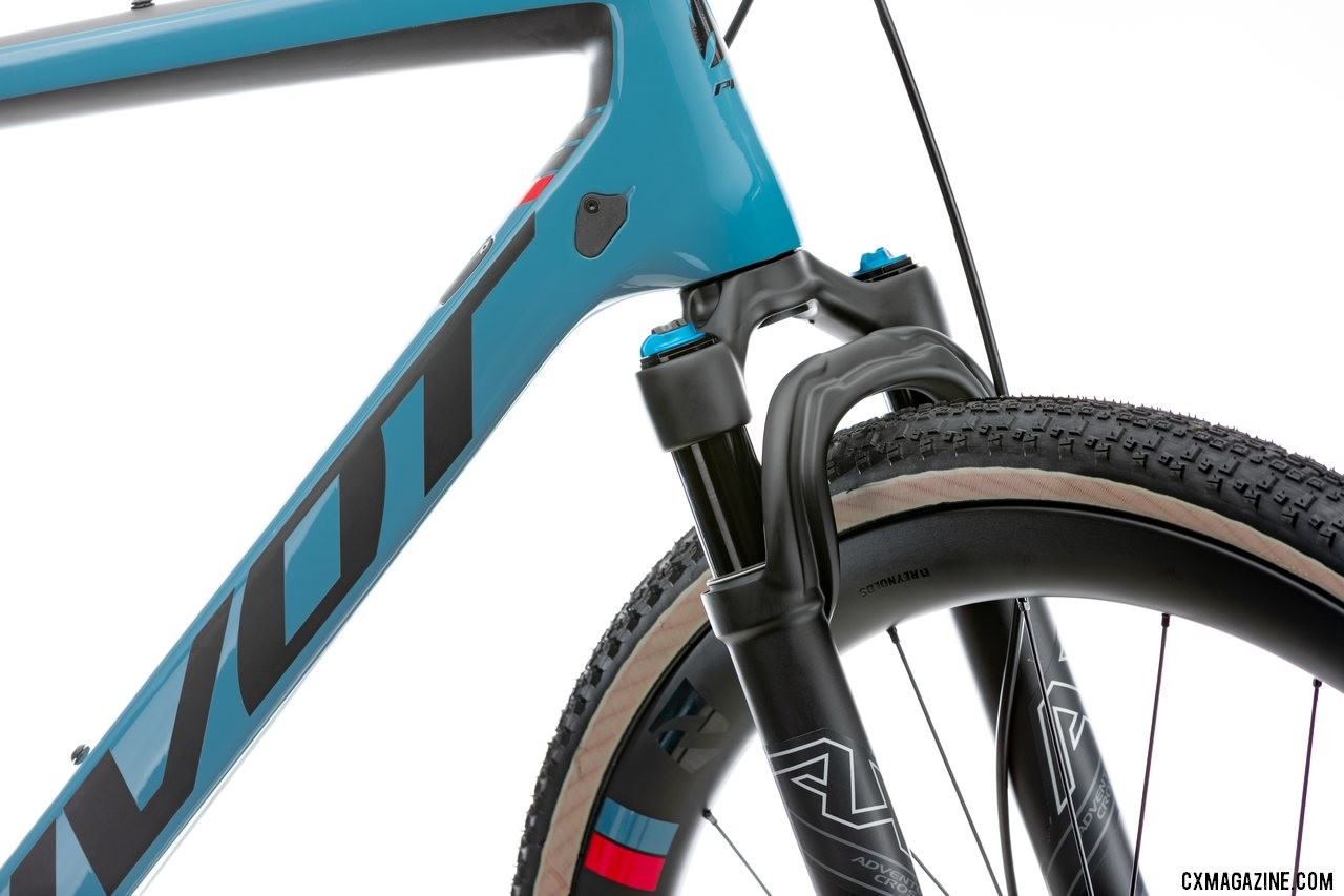 Pivot's all-new versatile Vault cyclocross/gravel bike is compatible with the Fox AX suspension fork.