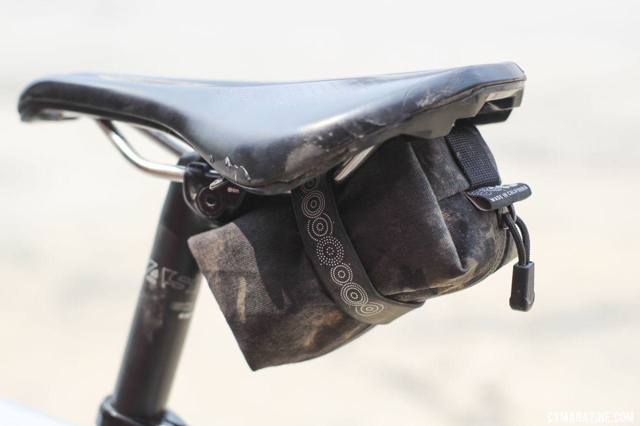 Rockwell got her Mini Saddle bag from Outer Shell and considers it fully Send-It-Certified. Amity Rockwell's DK200 Allied Able Gravel Bike. © Z. Schuster / Cyclocross Magazine