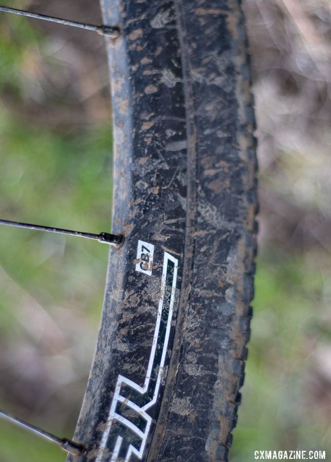 Stan's Grail CB7 wheels are new, replacing the aging RC-38 tubeless clinchers Nash used last year. Katerina Nash's 2019 Lost and Found-winning gravel bike. © A. Yee / Cyclocross Magazine
