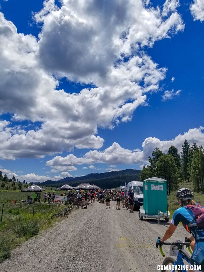 Being self-supported is not the spirit of Lost and Found. Nearly every 10 miles there are well-stocked aid stations. 2019 Lost and Found gravel race. © A. Yee / Cyclocross Magazine