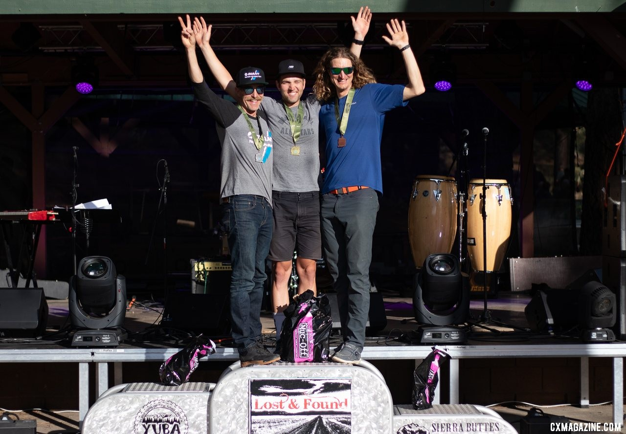 Two-thirds of the 2019 Lost and Found Men's podium will be at the Oregon Trail Gravel Grinder. 2019 Lost and Found gravel race. © A. Yee / Cyclocross Magazine
