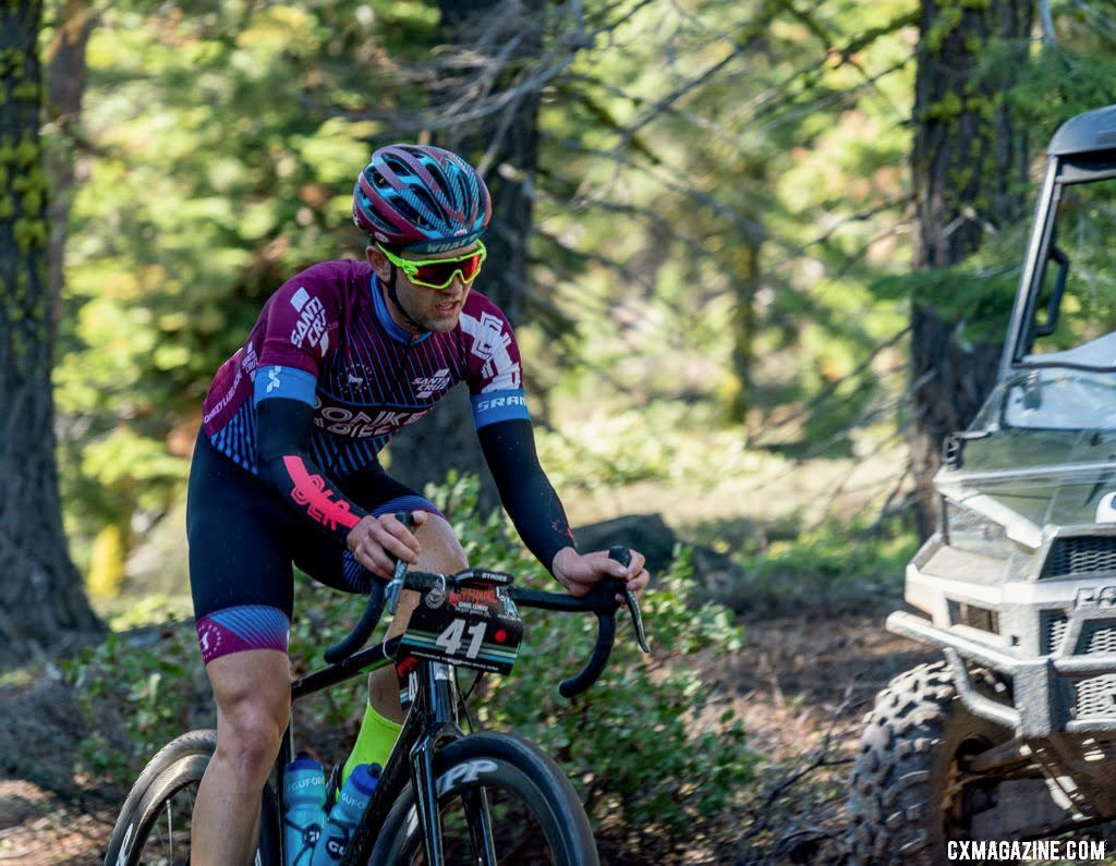 Tobin Ortenblad rode a paitent race. 2019 Lost and Found gravel race. © B. Sinkford / Cyclocross Magazine