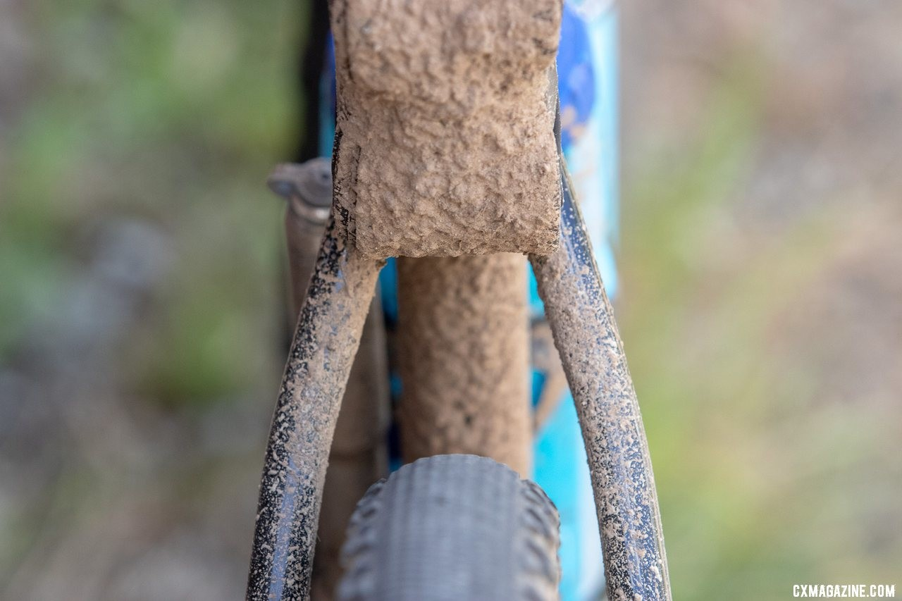 Lots of mud and tire clearance on the new Stigmata. Tobin Ortenblad's 2019 Lost and Found-winning Santa Cruz Stigmata. © A. Yee / Cyclocross Magazine