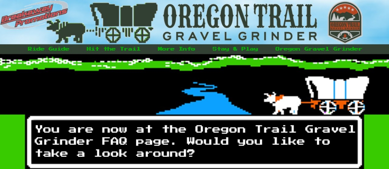 The Oregon Trail Gravel Grinder really leans into the computer-game-related theme.
