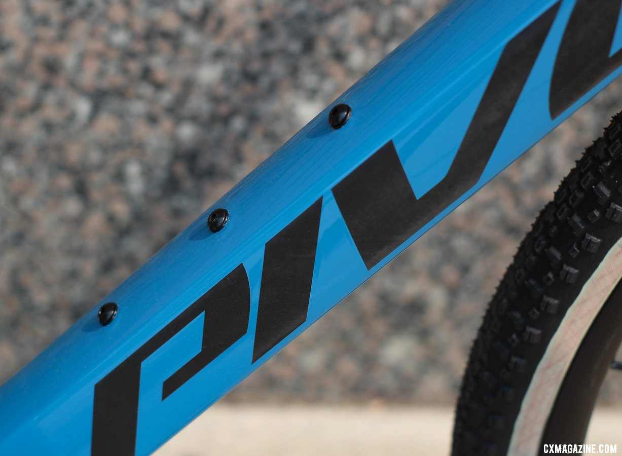 Pivot's all-new versatile Vault cyclocross/gravel bike features adventure mounts on the down tube. © Cyclocross Magazine