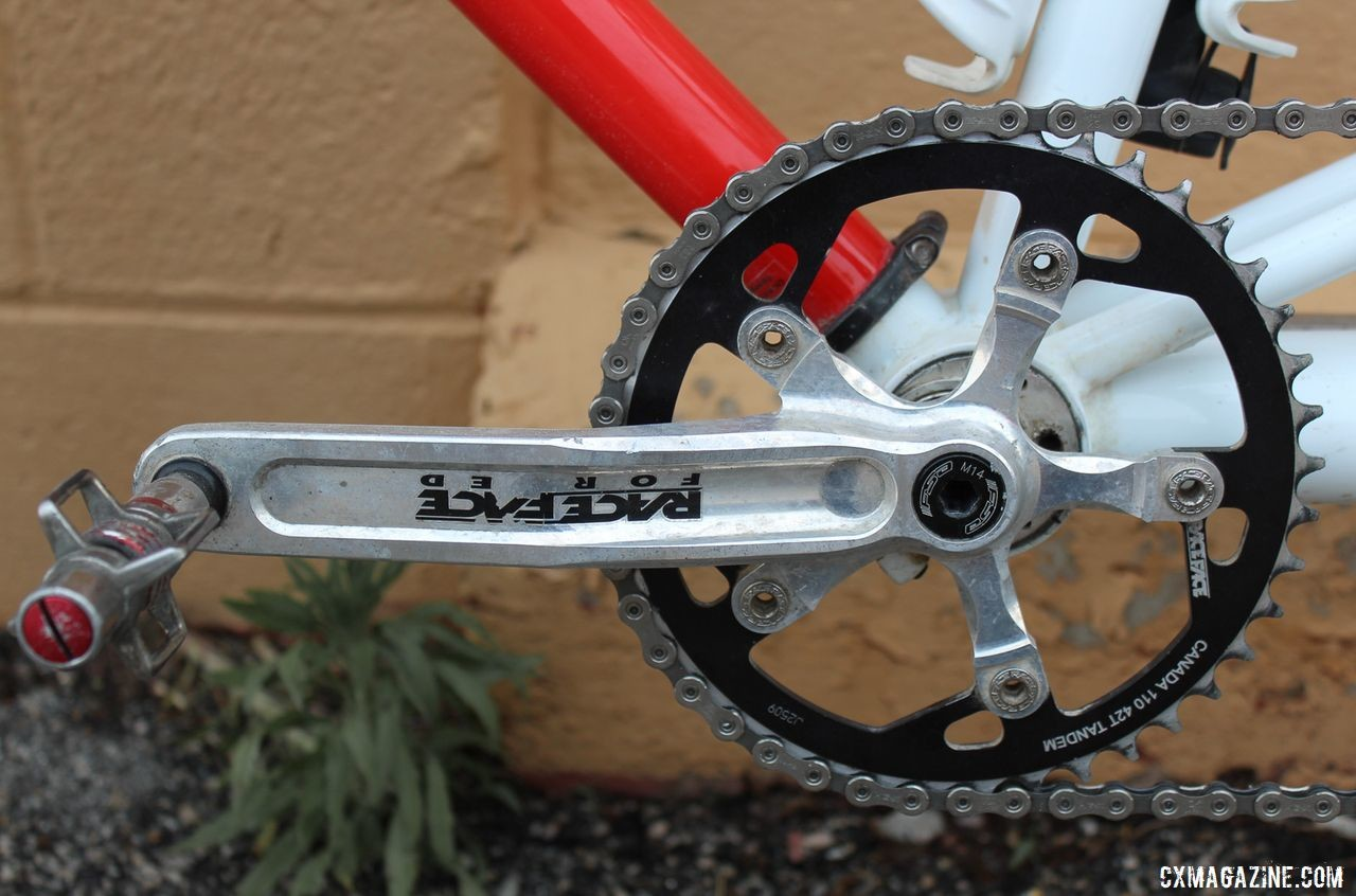 The Coetzees used 42t rings and Race Face Forged cranks on with the timing chain. Dori and Andrew Coetzee's Ritchey Double Switchback Break Away Tandem. © Z. Schuster