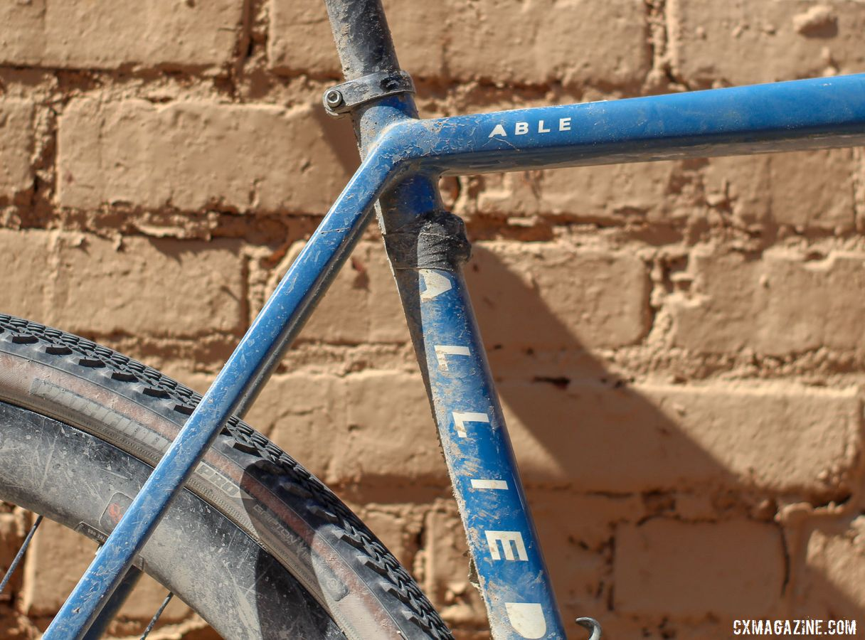 The Able is the new gravel bike from Allied. Colin Strickland's 2019 Dirty Kanza 200 Allied Able. © Z. Schuster / Cyclocross Magazine