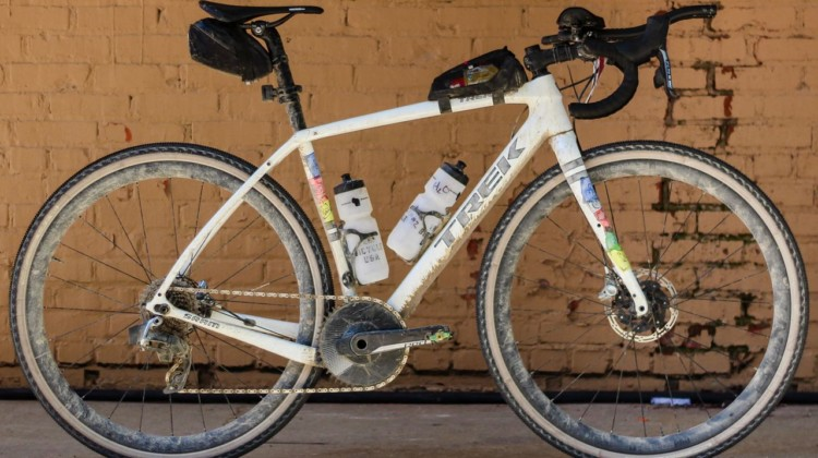 Peter Stetina's Trek Checkpoint gravel bike. © Z. Schuster / Cyclocross Magazine