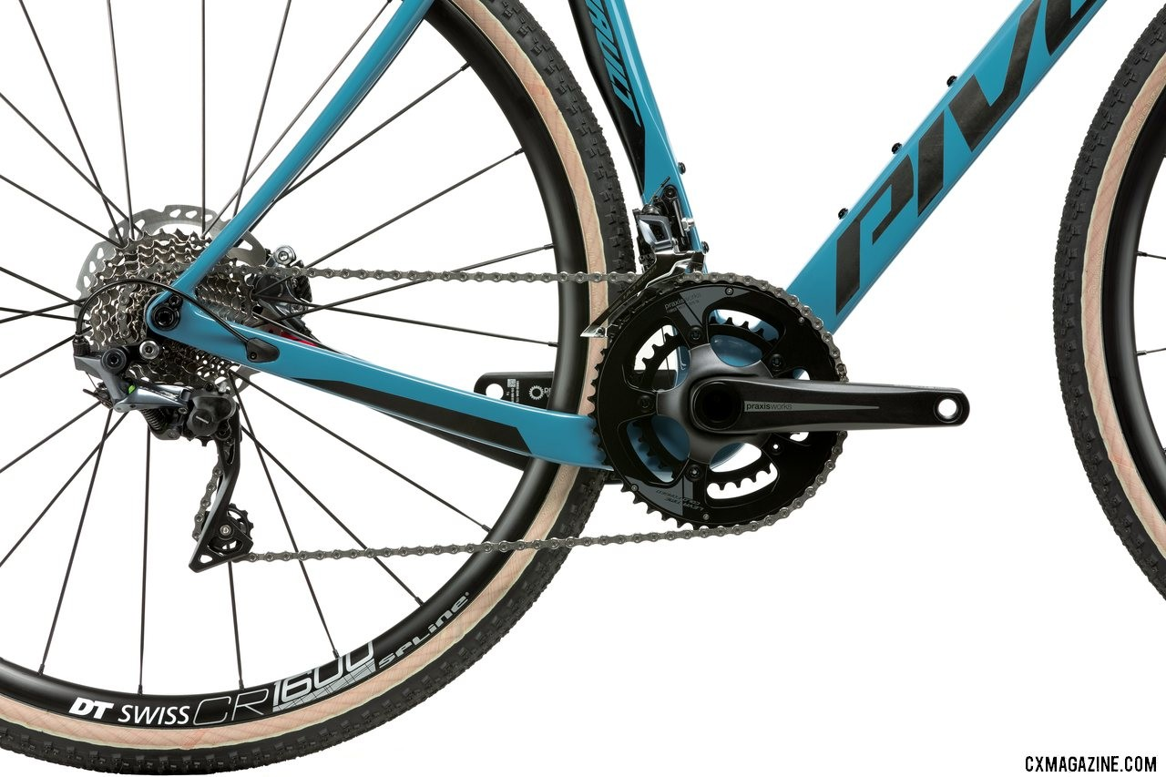 Pivot's all-new versatile Vault cyclocross/gravel bike features dual dropped chainstays.
