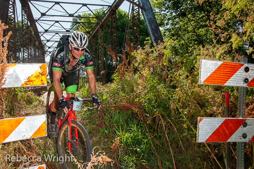 Many challenges awaited riders at the Bohemian Sto Mil. © Rebecca Wright